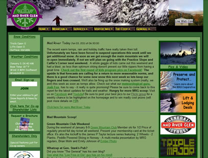 Mad River Glen's old site design