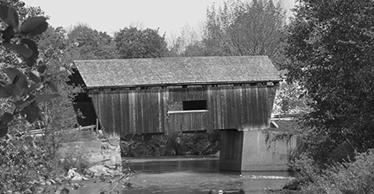 Warren, Vermont covered bridge in 2010