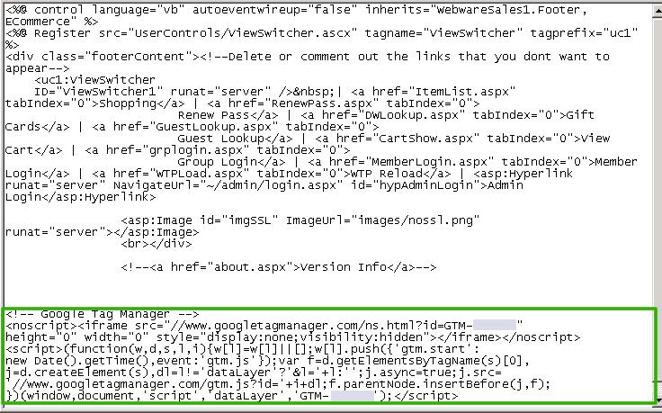 AFTER - Google Tag Manager Script .