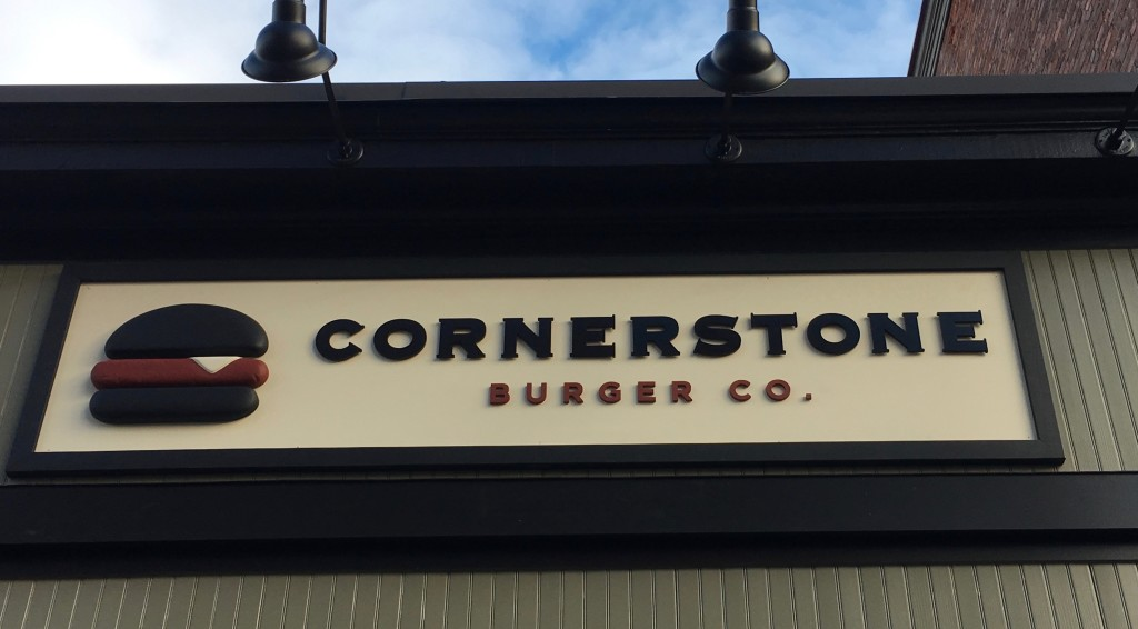 Cornerstone Burger Co sign