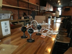 Dropcams in the bar for security and marketing