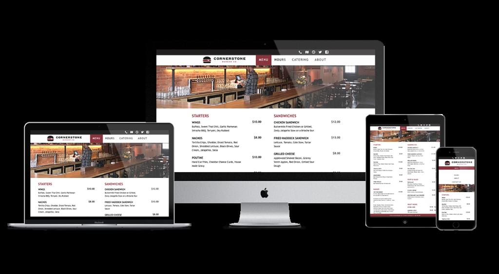 Cornerstone website on multiple devices
