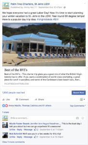 Palm Tree Charters facebook post