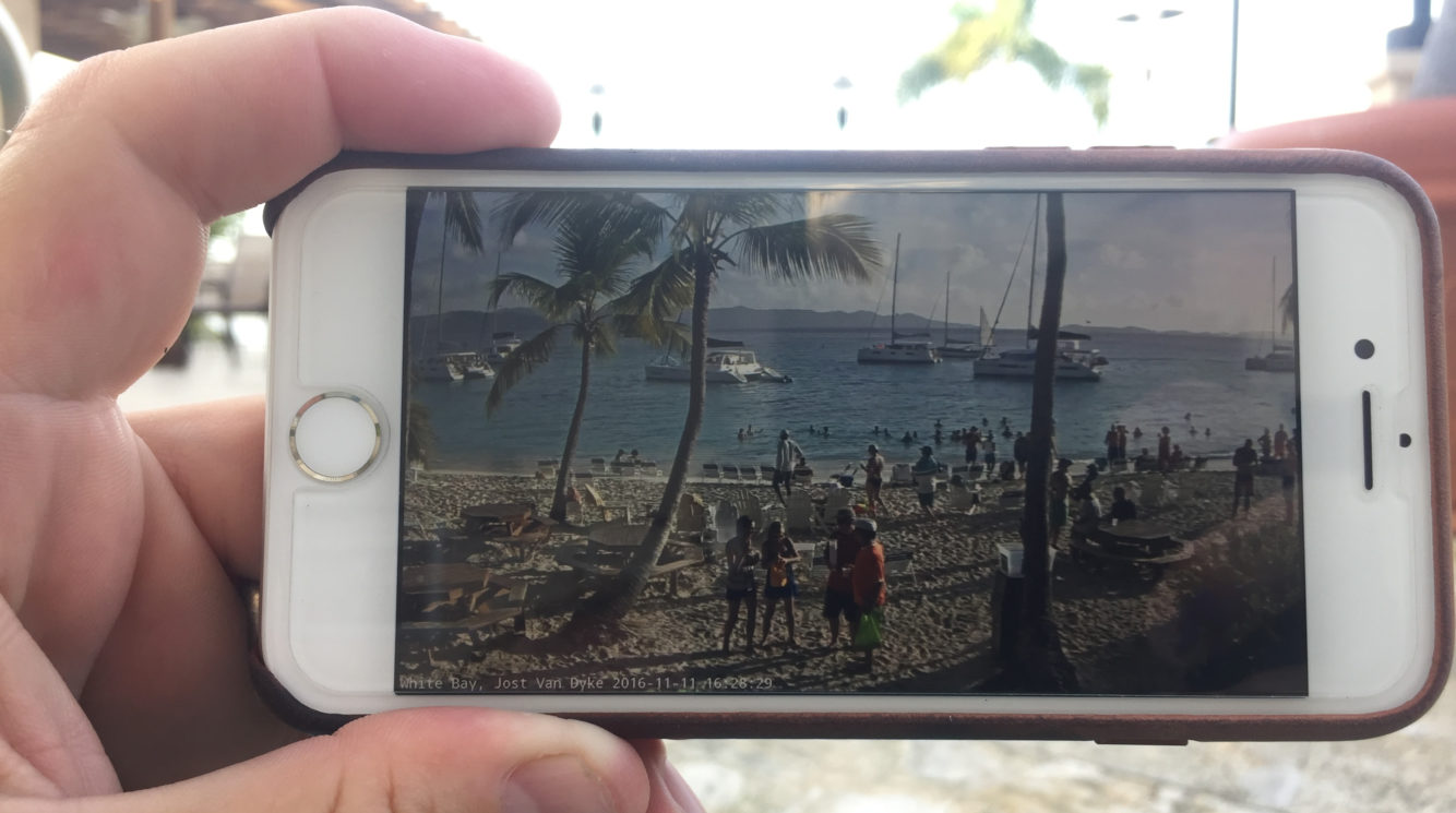 Soggy Dollar Webcam on my iPhone