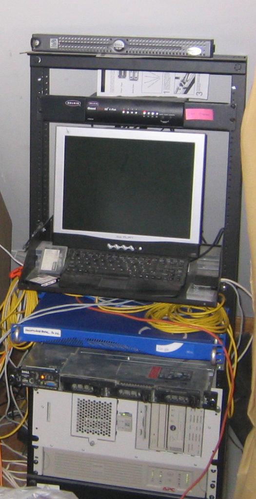 server rack at the original vickeryhill